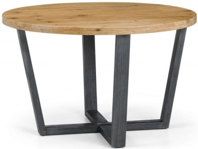 Julian Bowen Brooklyn Rustic Oak Round Dining Table