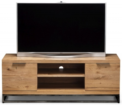 Julian Bowen Brooklyn Rustic Oak 2 Door TV Unit