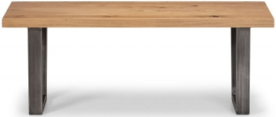 Julian Bowen Brooklyn Rustic Oak Bench