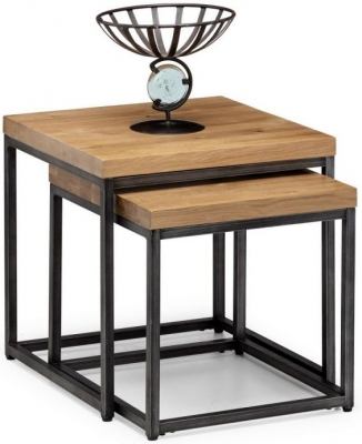 Julian Bowen Brooklyn Rustic Oak Lamp Tables
