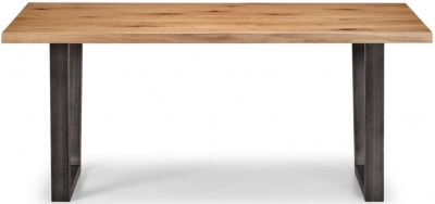 Julian Bowen Brooklyn Rustic Oak Dining Table