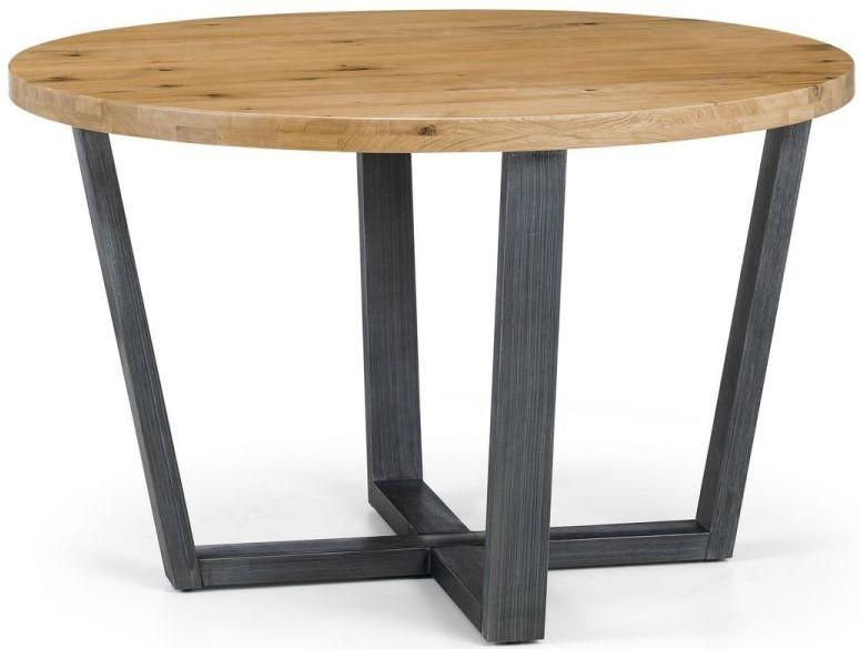 Julian Bowen Brooklyn Rustic Oak Round Dining Table