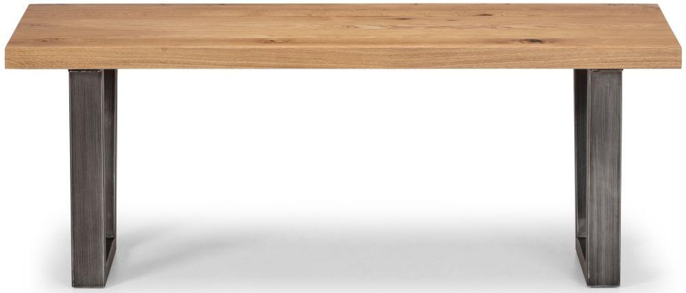 Julian Bowen Brooklyn Rustic Oak Bench