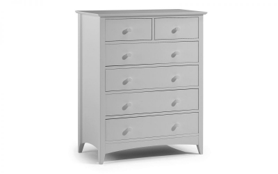 Julian Bowen Cameo Dove Grey 2+4 Drawer Chest