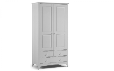 Julian Bowen Cameo Dove Grey 2 Door 3 Drawer Wardrobe