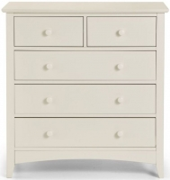 Julian Bowen Cameo Off White 3+2 Drawer Chest