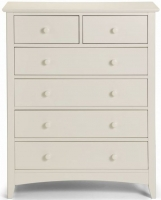 Julian Bowen Cameo Off White 4+2 Drawer Chest