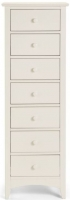 Julian Bowen Cameo Off White 7 Drawer Narrow Chest