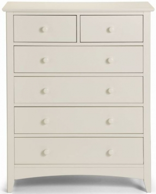 Julian Bowen Cameo White 4+2 Drawer Chest