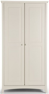 Julian Bowen Cameo White 2 Door Wardrobe