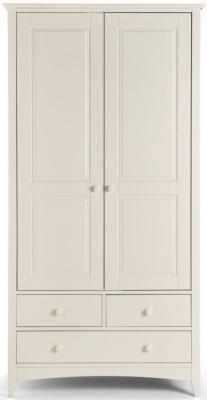 Julian Bowen Cameo White 2 Door 3 Drawer Wardrobe