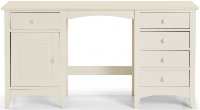 Julian Bowen Cameo White 1 Door 5 Drawer Dressing Table