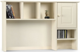 Julian Bowen Cameo Off White Hutch Top - 1 Door 2 Shelves