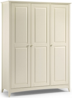 Julian Bowen Cameo Off White Wardrobe - 3 Doors