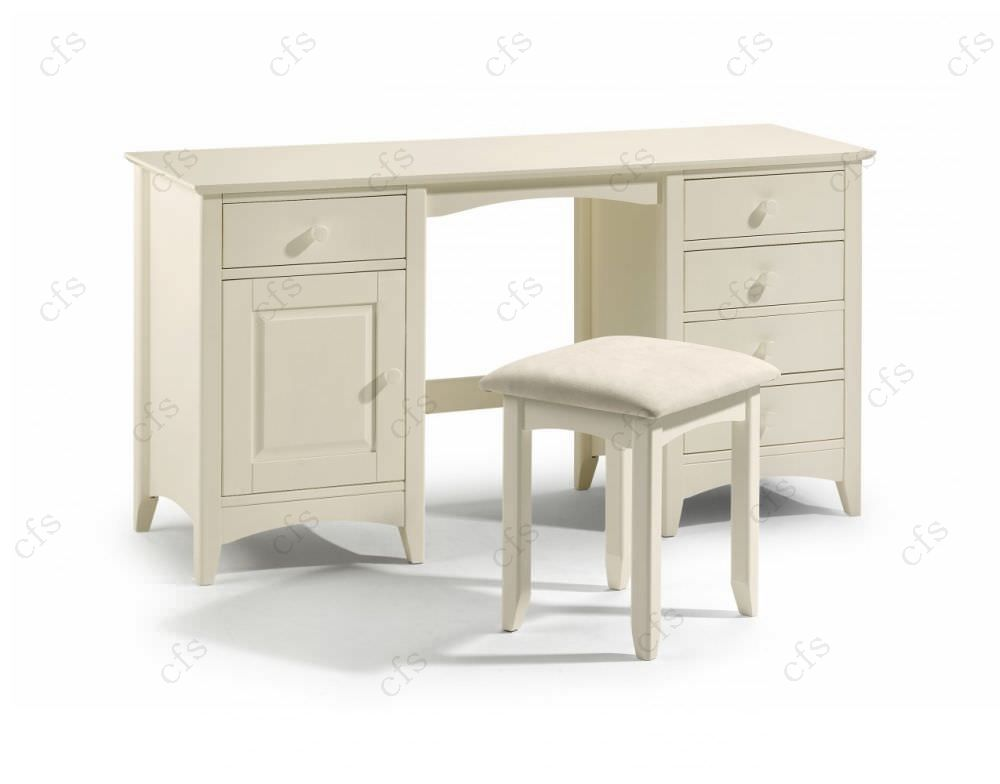 Julian bowen cameo off white dressing table twin for White dressing table for sale