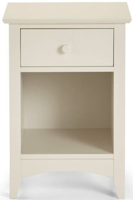 Julian Bowen Cameo Off White Bedside Cabinet - 1 Drawer