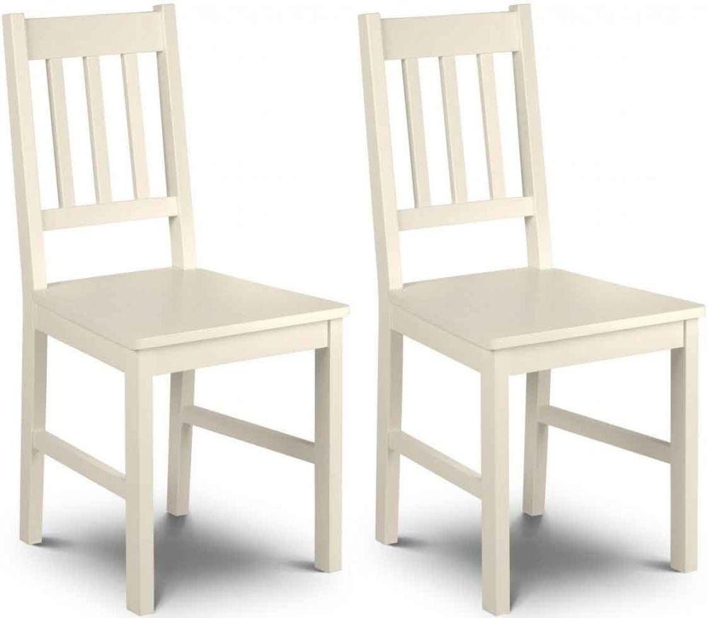 Julian Bowen Cameo Off White Chair (Pair)