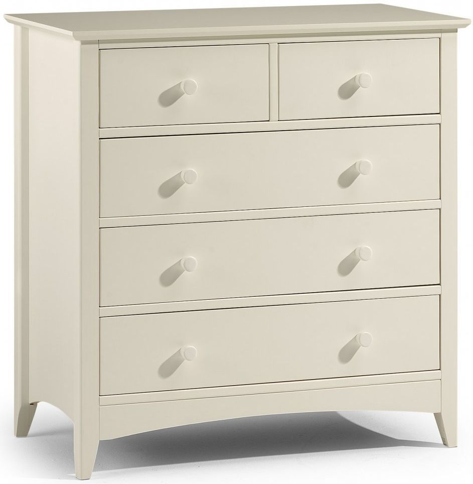 Julian Bowen Cameo Off White Chest of Drawer - 3+2 Drawers
