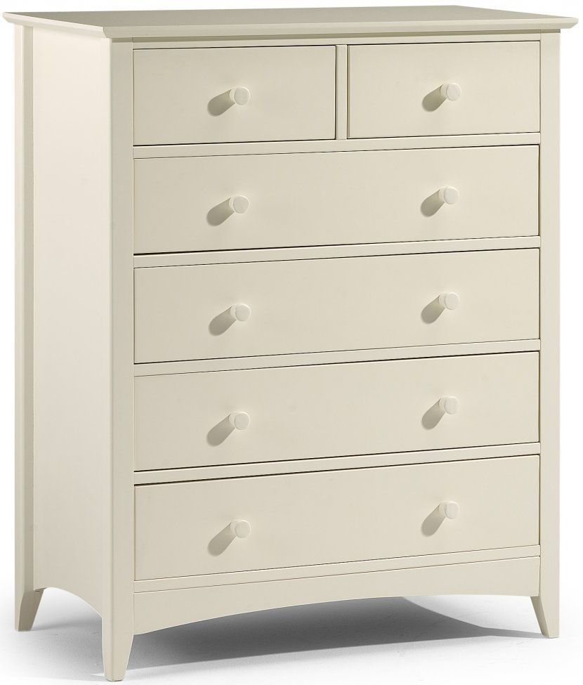 Julian Bowen Cameo Off White Chest of Drawer - 4 + 2 Drawers