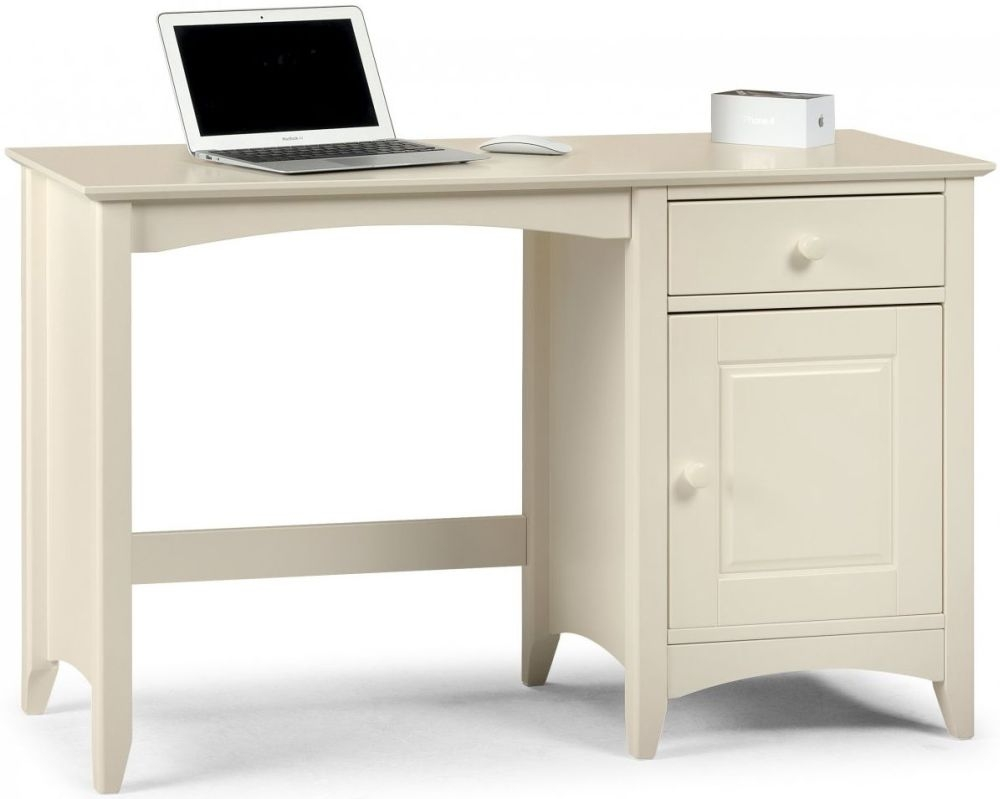 Julian Bowen Cameo Off White Desk - 1 Door 1 Drawer