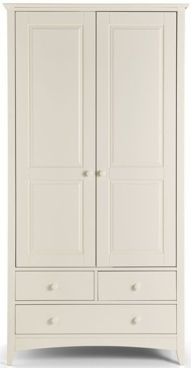 Julian Bowen Cameo White 2 Door 3 Drawer Wardrobe