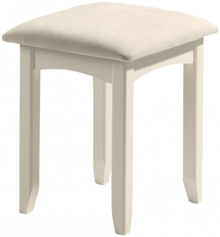 Julian Bowen Cameo Off White Dressing Stool