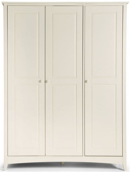Julian Bowen Cameo Off White 3 Door Triple Wardrobe