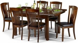 Julian Bowen Canterbury Mahogany Dining Set - Extending with 6 Chairs