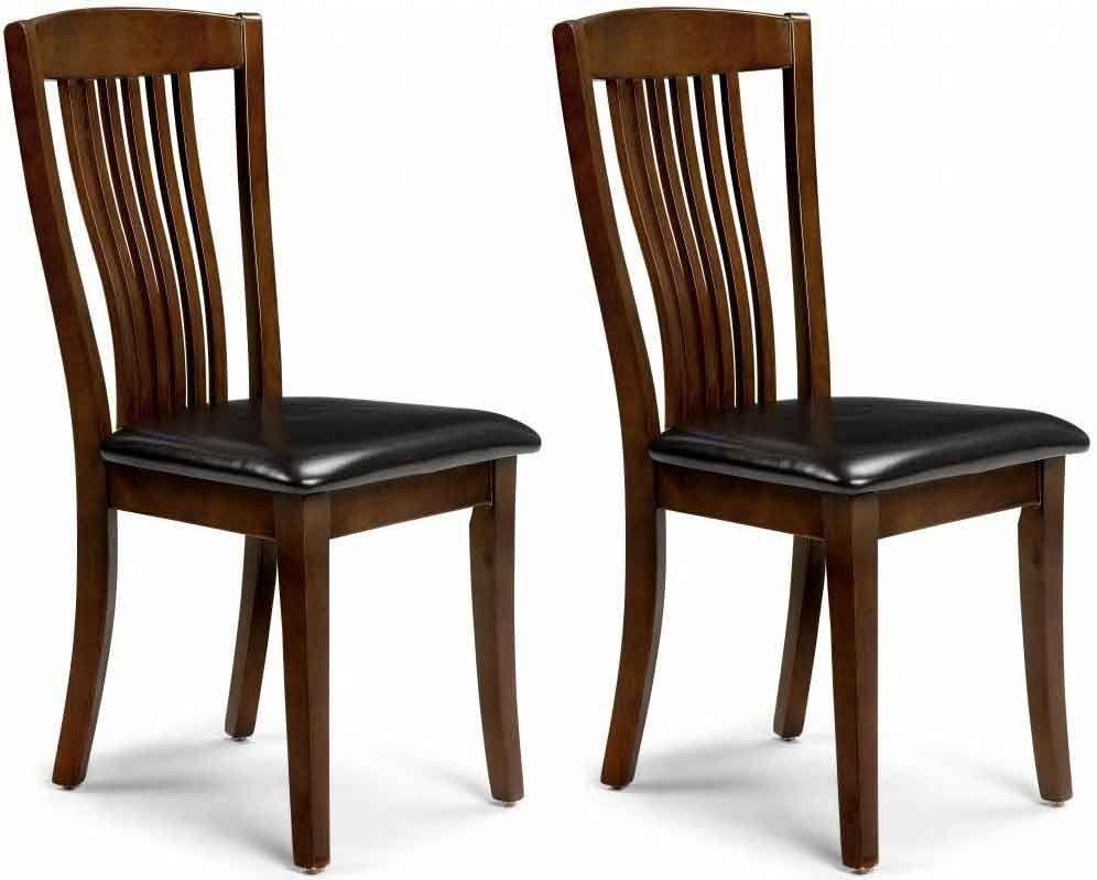 Julian Bowen Canterbury Mahogany Dining Chair (Pair)