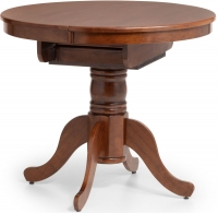 Julian Bowen Canterbury Mahogany Round to Oval Extending Dining Table