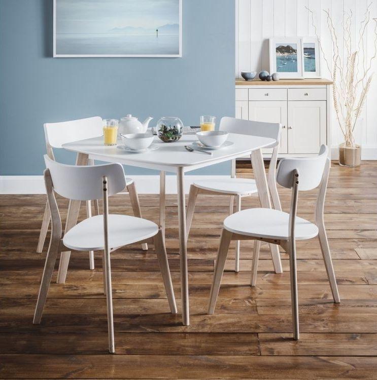 Julian Bowen Casa Square Dining Table - White and Oak