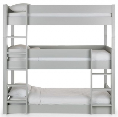 Julian Bowen Trio Dove Grey Bunk Bed