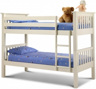 Julian Bowen Barcelona Stone White Bunk Bed