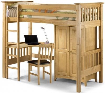 Julian Bowen Bedsitter Pine Bunk Bed - Barcelona Style