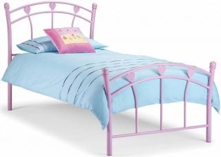 Julian Bowen Jemima Pink Metal Bed