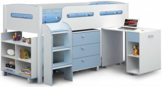 Julian Bowen Kimbo Blue Cabin Bed