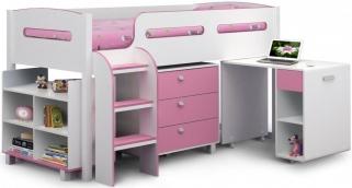 Julian Bowen Kimbo Pink Cabin Bed