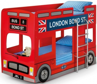 Julian Bowen London Bus Red Bunk Bed