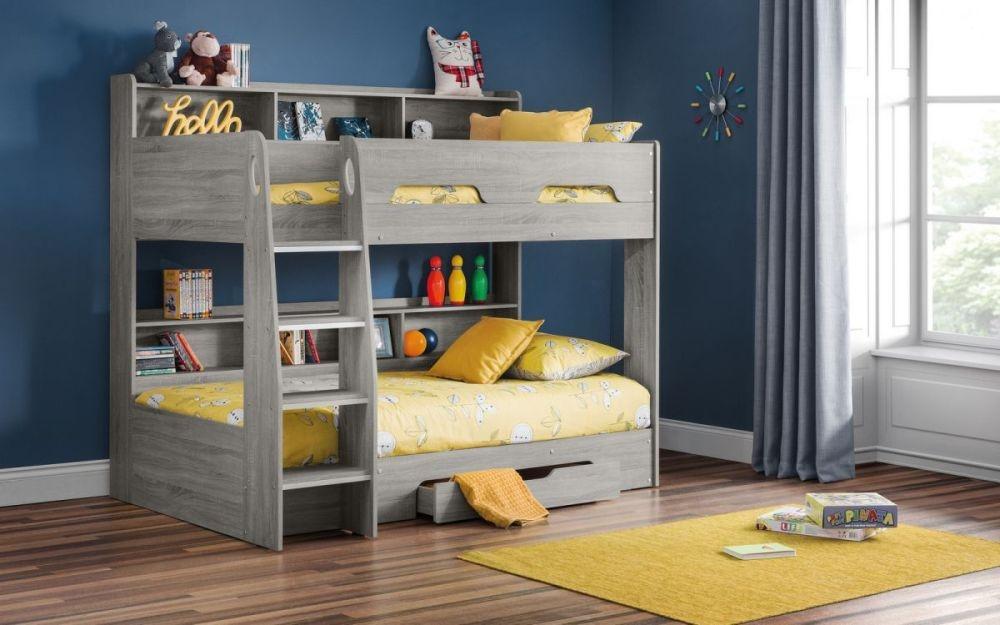 Julian Bowen Orion Grey Oak Bunk Bed