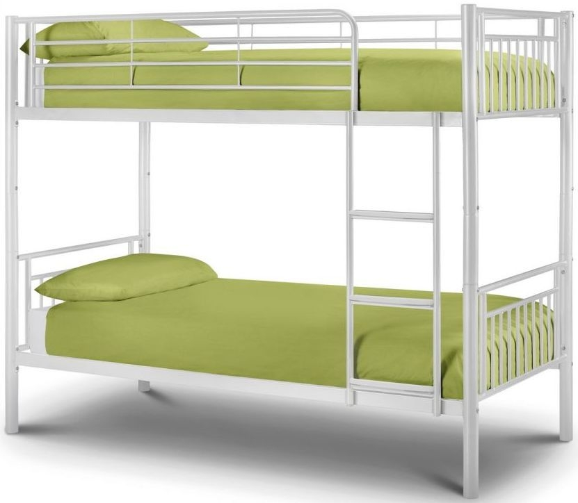 Julian Bowen Atlas 3ft Single Metal White Bunk Bed