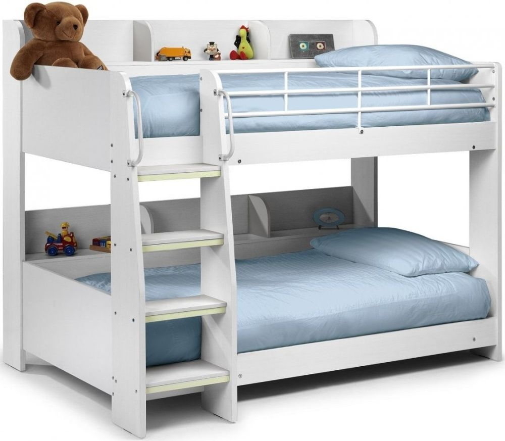 buy julian bowen domino bunk bed in white julian bowen. Black Bedroom Furniture Sets. Home Design Ideas