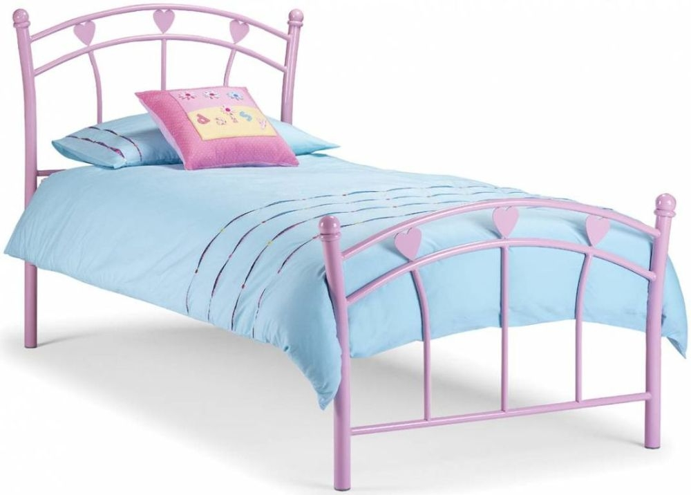 Julian Bowen Jemima Pink Metal Bed