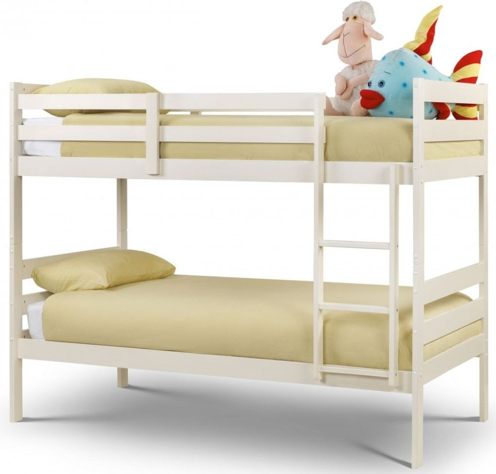 Julian Bowen Modena White Bunk Bed