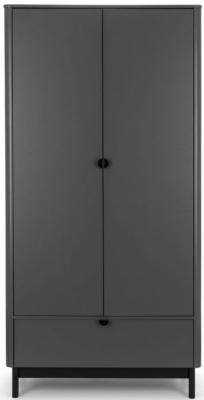 Julian Bowen Chloe Storm Grey 2 Door Double Wardrobe