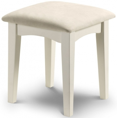 Clearance Julian Bowen La Rochelle White Dressing Stool