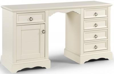 Clearance Julian Bowen La Rochelle White Twin Pedestal Dressing Table