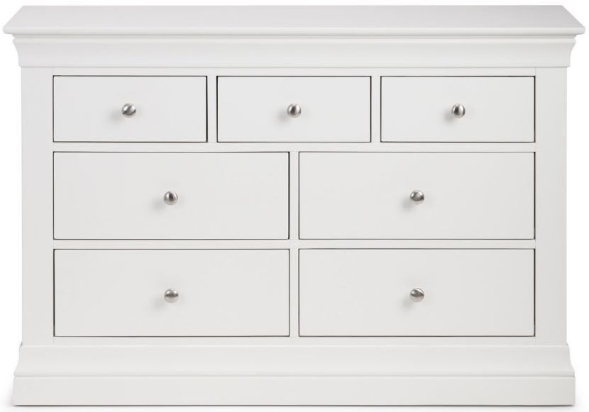 Julian Bowen Clermont White 4+3 Drawer Chest