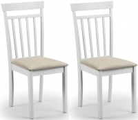 Julian Bowen Coast White Dining Chair (Pair)