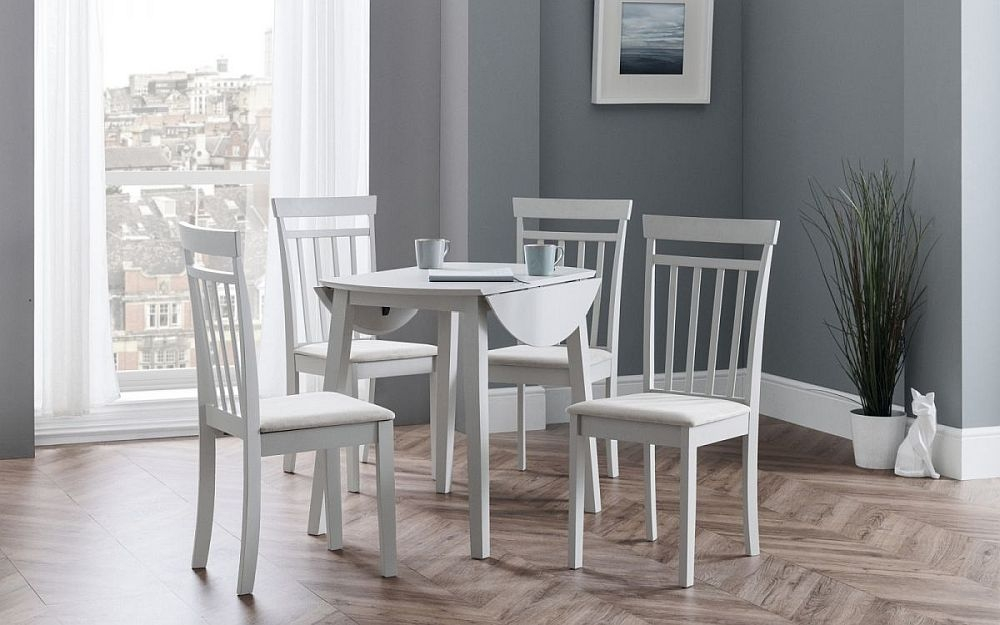 Julian Bowen Coast Pebble Dropleaf Dining Table and 4 Chairs