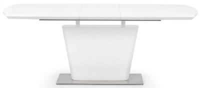 Julian Bowen Como White High Gloss Extending Dining Table